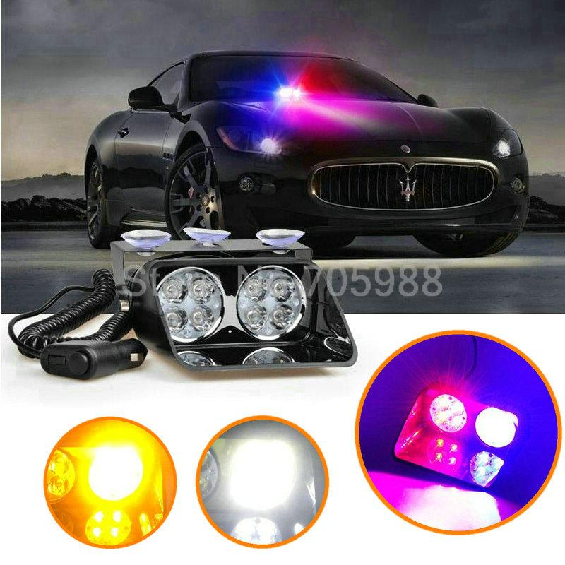 8 LED Strobe Flash light, Car Warning Police Light , Flashing Firemen Fog lamp(China (Mainland))