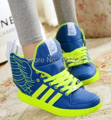Angel Wings wings shoes high-top / tide sneakers Korean couple stylish hip-hop fashion footwear men women - Lemon summer store