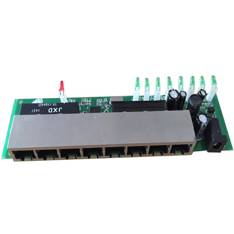 90 degree rj45 mini smart 8 port lan switch pcba<br><br>Aliexpress