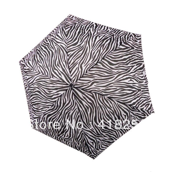 Freeshipping 3 Folding Apollo umbrellas Fashion Zebra Umbrella,sunny and rainy umbrella,Pencil umbrella 2 designs chose(China (Mainland))