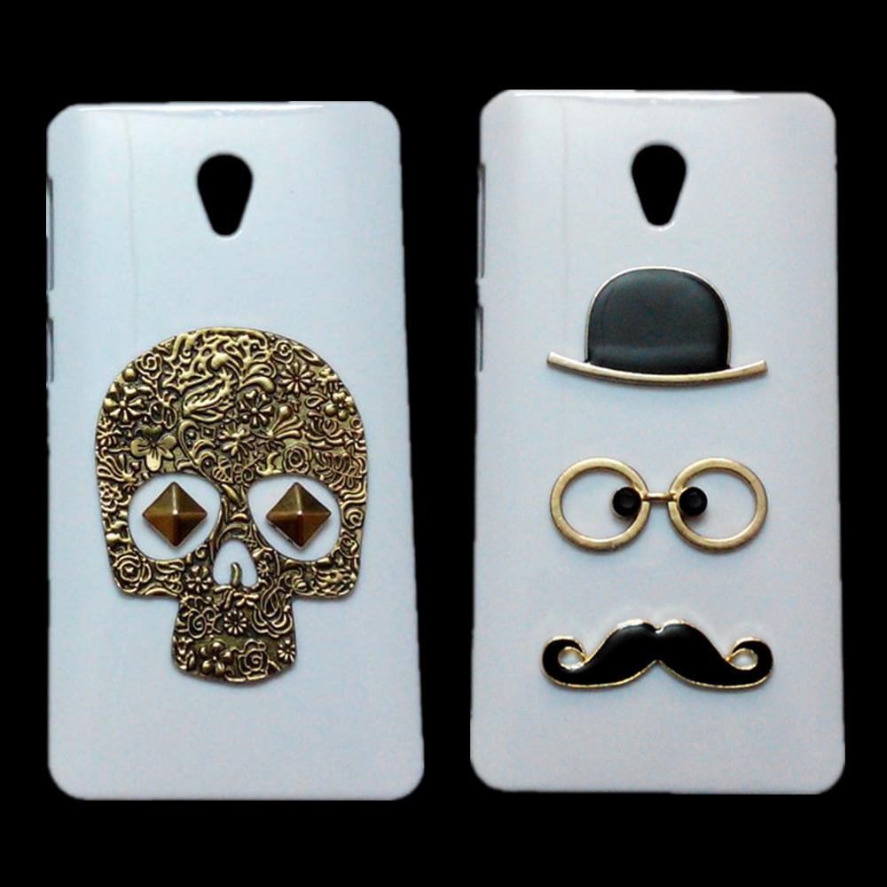 For Lenovo S860 Case, Retro Skull Punk Rivet Bronze Owl Branch Hard Back Cover For Lenovo S860 3D Cute Mustache Phone Bags Cases(China (Mainland))