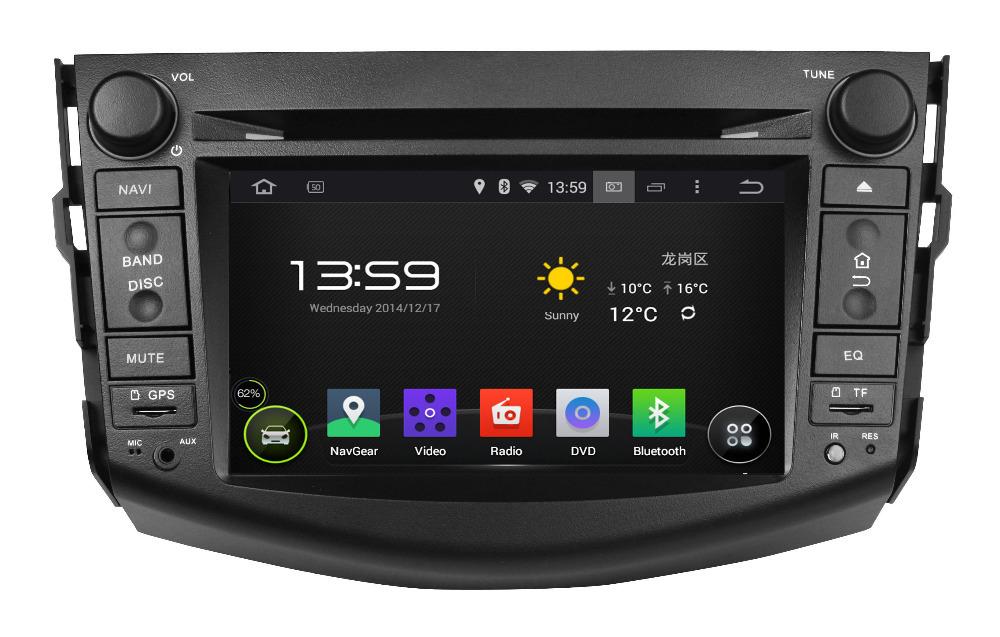 Pure Android 4.4 OS 7'' Car DVD Player/Head Unit for Toyota RAV4,AutoRadio,GPS,Navi,Car Multimedia,Radio,Ipod,AUX,Free shipping(Hong Kong)
