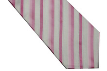 NT0512 9 5 cm Width 2014 Pink White Striped Classic Smooth Man s Fashion Silk Polyester