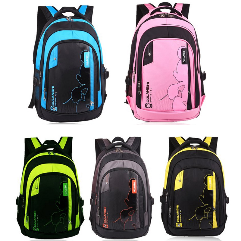 2015 New Orthopedic School Bags Big Nylon Backpack Large Capacity Students Girls Boys Children - Online Store 426955 store