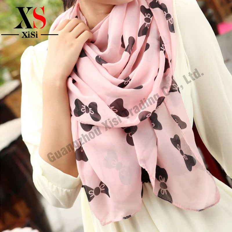 New Trend Cute Bowknot Printed Scarf Women font b Tartan b font Scarves Cozy Checked Blanket