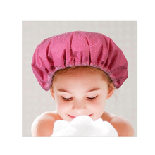 Brand Quality Double Shower Cap Thick Waterproof Bathroom Dry Hair Hat Super Absorbent(China (Mainland))