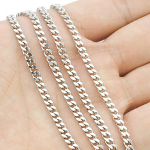 Buy ATGO Free shipping, (40-70cm) choose, 3mm wide,Chain Necklace, 316L Stainless Steel Necklace Men, wholesale accessories BN001 for $1.31 in AliExpress store
