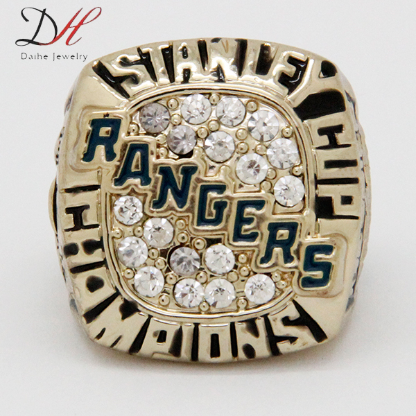 AD0011 Fashion Replica 1994 NY Rangers Stanley Cup Championship Ring, European and American Fans Souvenir Ring(China (Mainland))