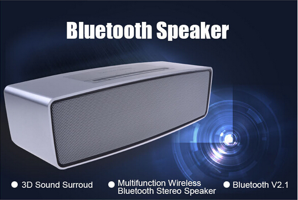 Wirelesss Mini HiFi Bluetooth wireless high-end luxury Multifunction 3D sound stereo speaker with SD card support MIC(China (Mainland))