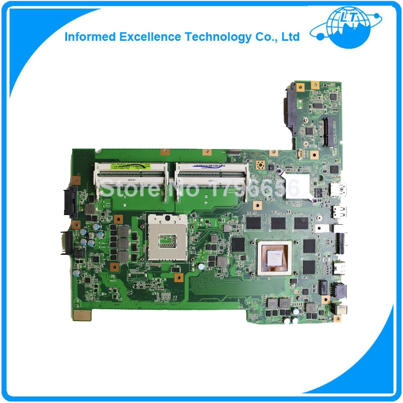 Original laptop motherboard for asus G74SX motherboard with 2D connector 60-N56MB2800 DDR3 non-integrated(China (Mainland))