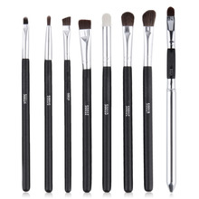 8 pcs / Set Professional Make Up Brushes Set , Black Handle  Eye Shadow Makeup Brushes Set Cosmetic Tool