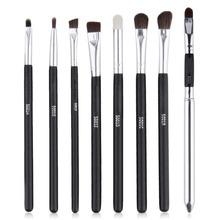 8 pcs / Set Professional Make Up Brushes Set , Black Handle  Eye Shadow Makeup Brushes Set Cosmetic Tool
