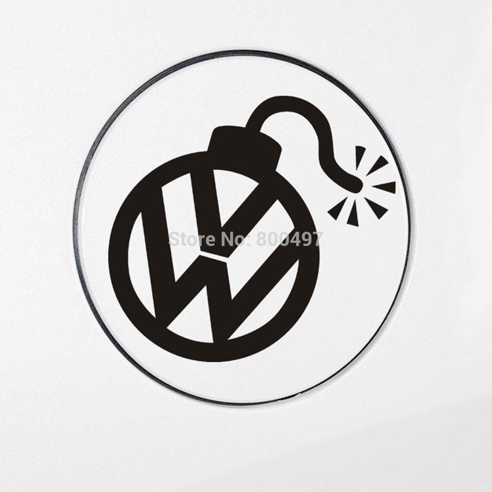 Car sticker design fire -  Car Stickers Funny Fire Bomb Design Car Decal For Volkswagen Vw Golf Gti Touareg Tiguan Jetta