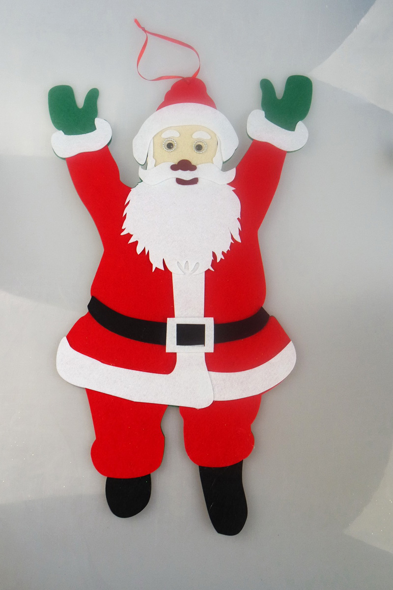retail ornament big santa 50x31cm hanging on the font b christmas b font tree party bauble