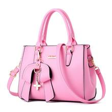 Женские Для женщин кожаные сумки на плечо с бант-кулон Женская сумочка через плечо сумка с ручками наверху-Сумки С Короткими Ручками(China)