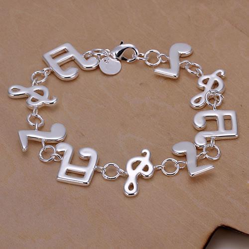 H242 Wholesale! 925 silver bracelet 925 silver fashion jewelry charm bracelet Music Bracelet(China (Mainland))