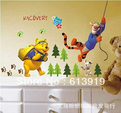 PVC Cartoon Animal Partner Kids Room Wall Stickers Decor Home Decorating - DIY Decoration Sky store