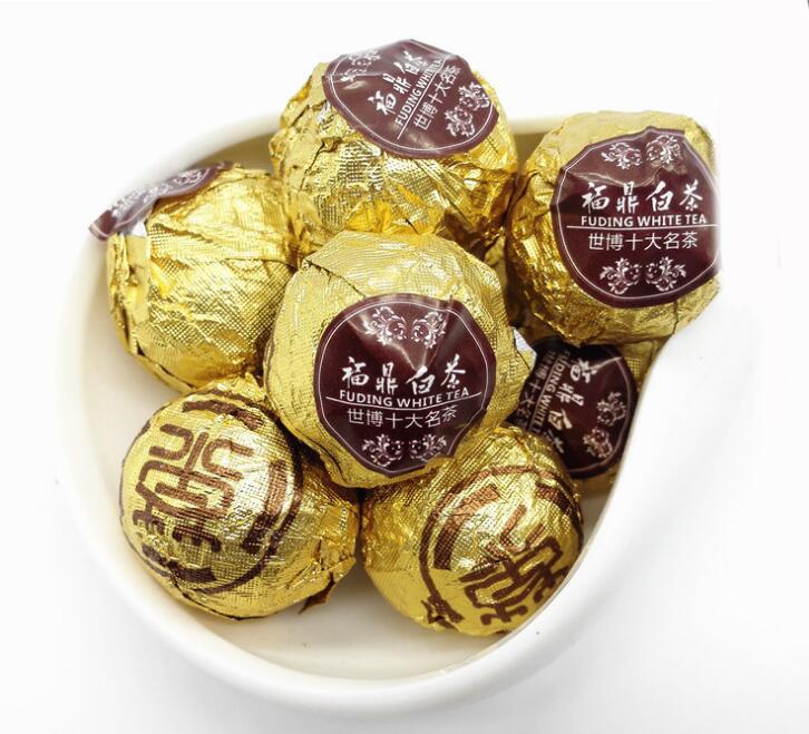10pcs Handmade Health tea Top grade Fuding Shou Mei organic white tea small Tuo tinfoil ball wholesale Anti-Aging lose weight(China (Mainland))