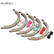 Hoomall 5PCs 8.5cm Semicircular Fix Mixed Metal Purse Bag Frame Kiss Clasp Lock  For DIY Purse And Handbags Bag Accessories(China (Mainland))