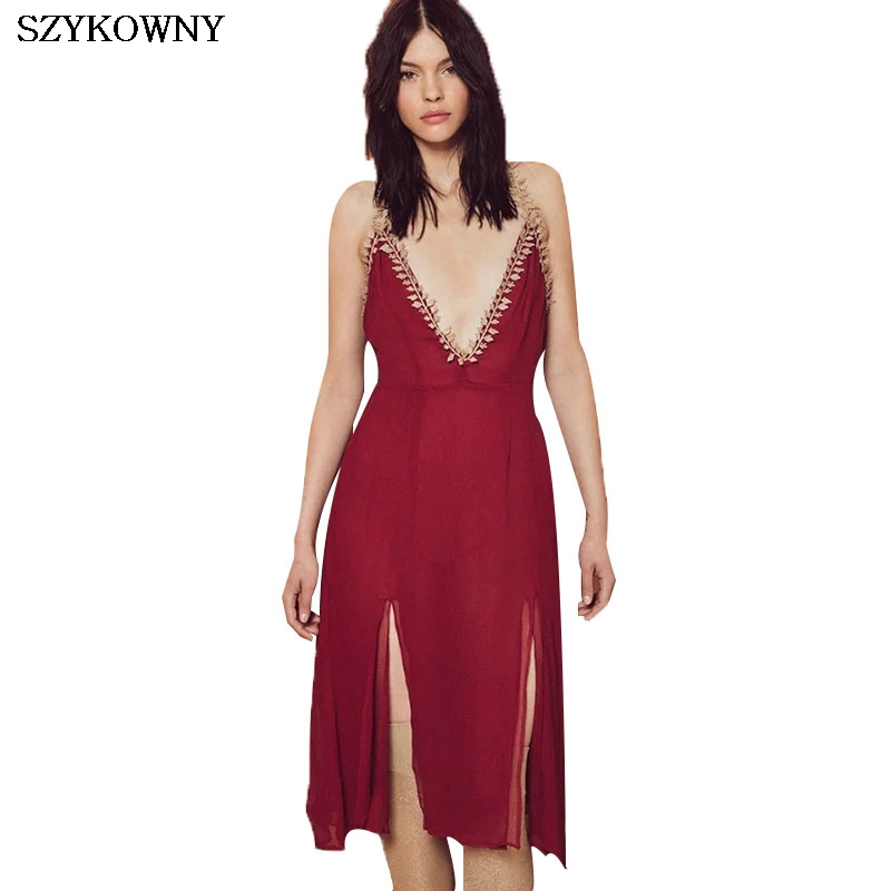Cheap spaghetti strap red dress