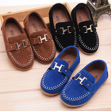 Children Shoes boys suede Kids  Leather Shoes  Boys Boat Shoes Slip On Soft Casual Flats shoes sandals Sneakers Size 21-30(China (Mainland))