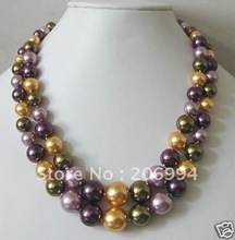 Charming design Beautiful Multicolor SHELL imitation Pearl Necklace fashion jewelry,gift free shipping(China (Mainland))