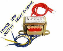 30 Вт е . и . ферритовыми сердечниками вход 220 В 50 Гц выход 18VAC-0-18VAC вертикальная гора электрический трансформатор