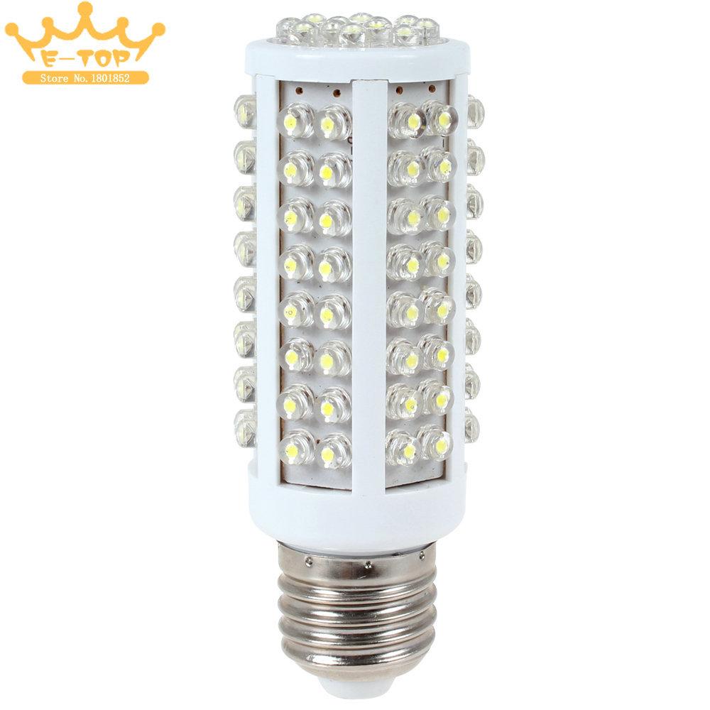7W 220V E27 LED Corn Bulb Lamp 360 Degree Cold White Light LED Corn Light Bulb with 108 LEDs(China (Mainland))