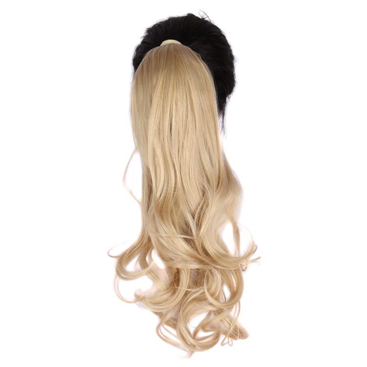 Long Wavy Drawstring Ponytail Horsetail Hair Piece Ponytail Hair Curly Hair Clip Extensions 100G 24inch Hair Extension WP241G67(China (Mainland))