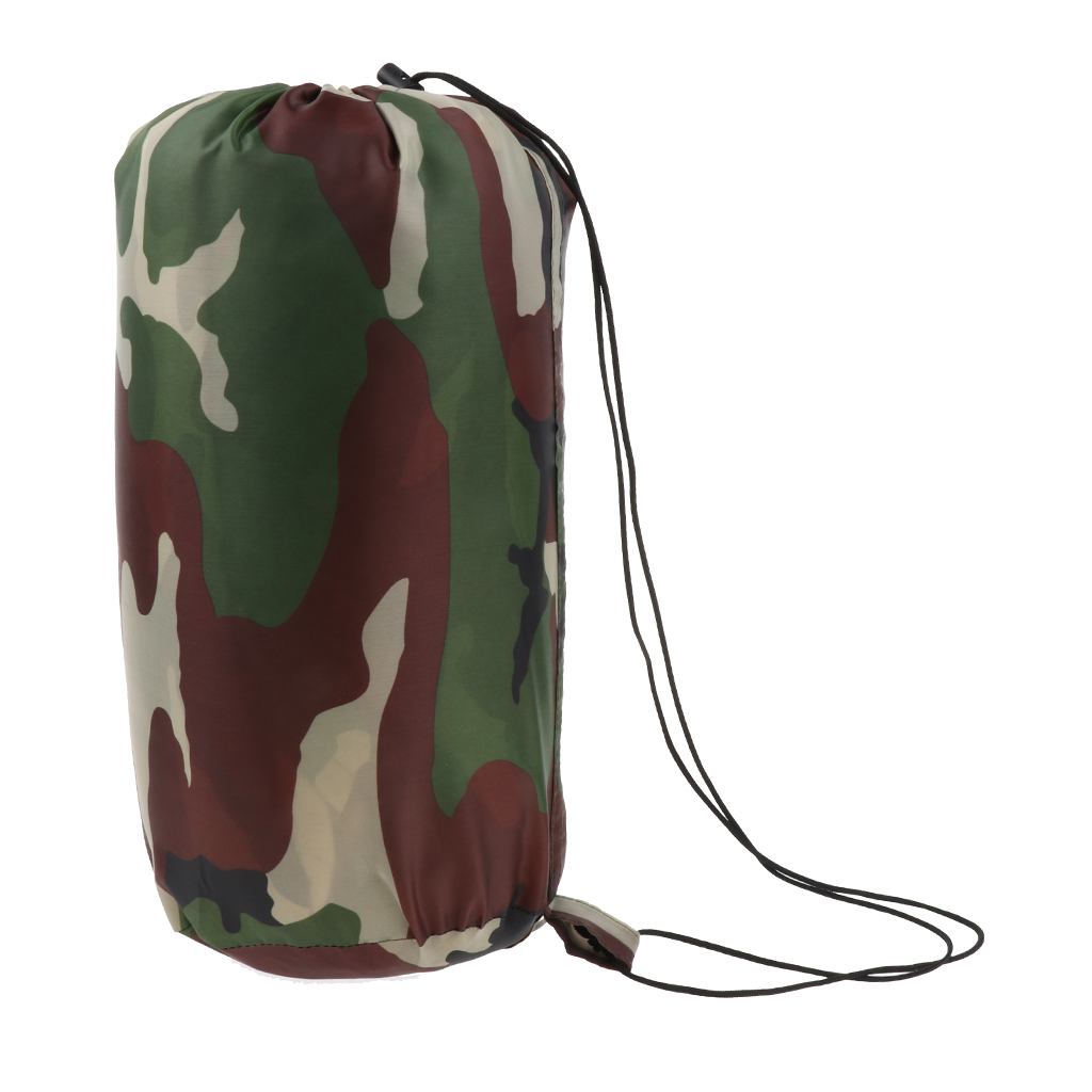 Single Sleeping Bag Envelope Type Lightweight Sleeping Gear with Compression Sack for 3 Seasons
