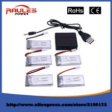 Free shipping Hot sale 5pcs 3.7V li-po 107L battery 500mah for hubsan H107 x4 h107c h107d V252 jxd385 6IQH