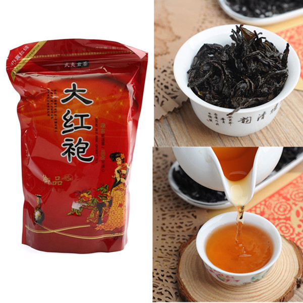 Wholesale 250g Strong flavor Chinese Fujian Wuyi Da Hong Pao Tea Oolong Tea Can Perfumes 100