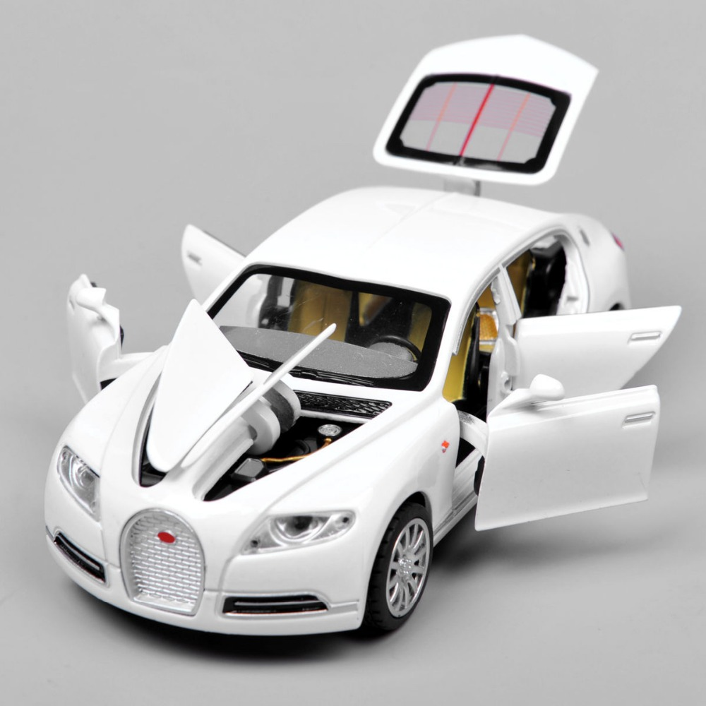 Collectible Alloy Diecast White Car Model 1/32 Bugatti Veyron 16C Galibier w/light&sound Pull Back Cars Model Kids Toys Gifts E(China (Mainland))