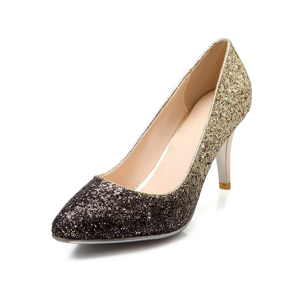 Ladies Gold Heels