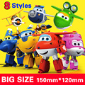 with box 15cm ABS Super Wings Deformation Airplane Robot Action Figures Super Wing Transformation toys for