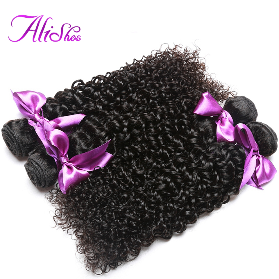 Alishes Hair Malaysian Curly Hair Weave 100% Human Hair Bundles Natural Color Non-Remy Hair Extension 8-28 inch Free Shipping(China (Mainland))