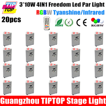 Discount Price 20 Pack Silver Color Painting Triangle Shape Battery Power IRC Remote Control Freedom Led Par Light DMX 7 Channel(China (Mainland))