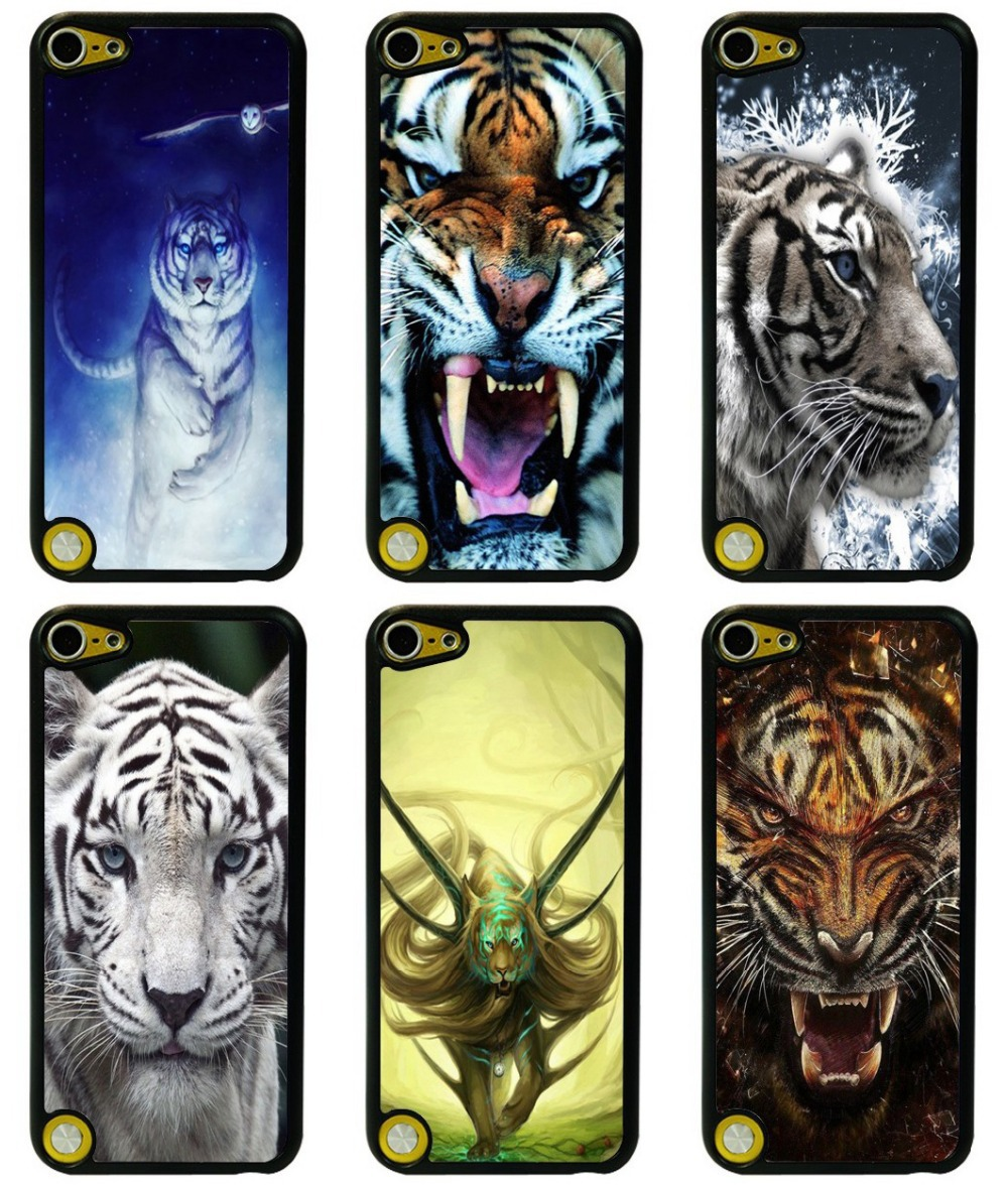 Case For Apple ipod touch 5 5G 5th case mobile phone Hard Plastic Back Case Cover Tiger wild animal Free Shiping(China (Mainland))