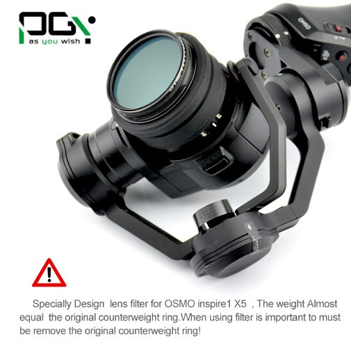 PGY MCUV Camera lens filter for DJI osmo X5 Inspire 1 Handheld Gimbal RC Multi Coated Optical Glass HD FPV Quadcopter parts