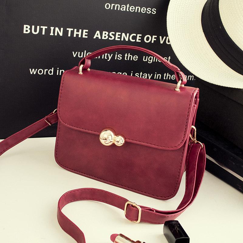 Gourd Ornament Flap Magnetic Button Bag Women Ultra Simple Small Handbag Korean Style Fashion Simple Female Shoulder Bag