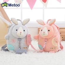 Metoo драже ребенок дети кролик рюкзак с ремнями безопасности милый маленький рюкзак детский сад мешок школы(China (Mainland))