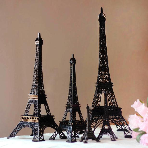 25cm Height Cool Black Paris Eiffel Tower Souvenirs Model Torre Eiffel Vintage Home Decor