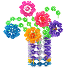 Baby Toy Brain Flakes Interlocking Plastic Disc Set Plastic Flake Of Snow Flowers Preschool Training(China (Mainland))