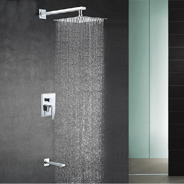 2-way shower set 8 inch stainless steel head mixer valve panel Bathroom concealed wall mounted 6005A - Boy&Girl Show store