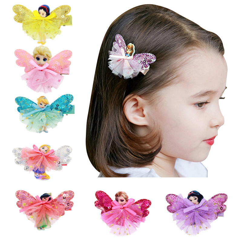 1pcs Cute Baby Girl Flower Hair Clip Cartoon Images Hair Pins Girl Princess Mini Dress Hairgrip Baby Kids Hair Accessories BM-3(China (Mainland))