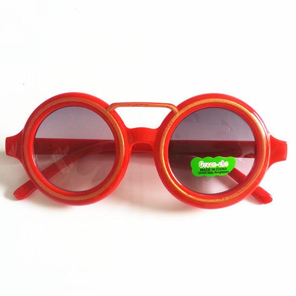Мода Круглые Детские Солнцезащитные Очки Дети Солнцезащитные Очки Анти-Уф Детские Старинные Очки Открытый Прохладный 8 Цвет óculos infantil де золь
