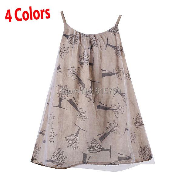 2015 Summer Vestidos Meninas New Brand Baby Girl Dress Princess Print Sleeveless Kids Easter Dress Children Dresses for Girls(China (Mainland))