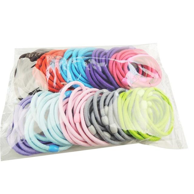 Девочка ободки 50 шт. смешивать цвета candy дети эластичные ленты для волос галстуки ...