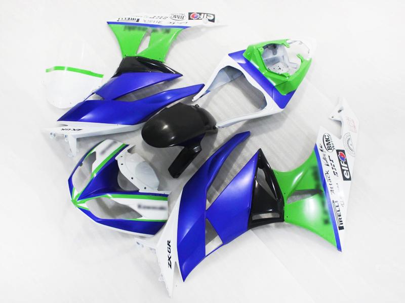 Full Fairing Kit Injection Mold Bodywork Fairing For Kawasaki  ZX-6R 2009 2010 09 10 (B) [CK1005]