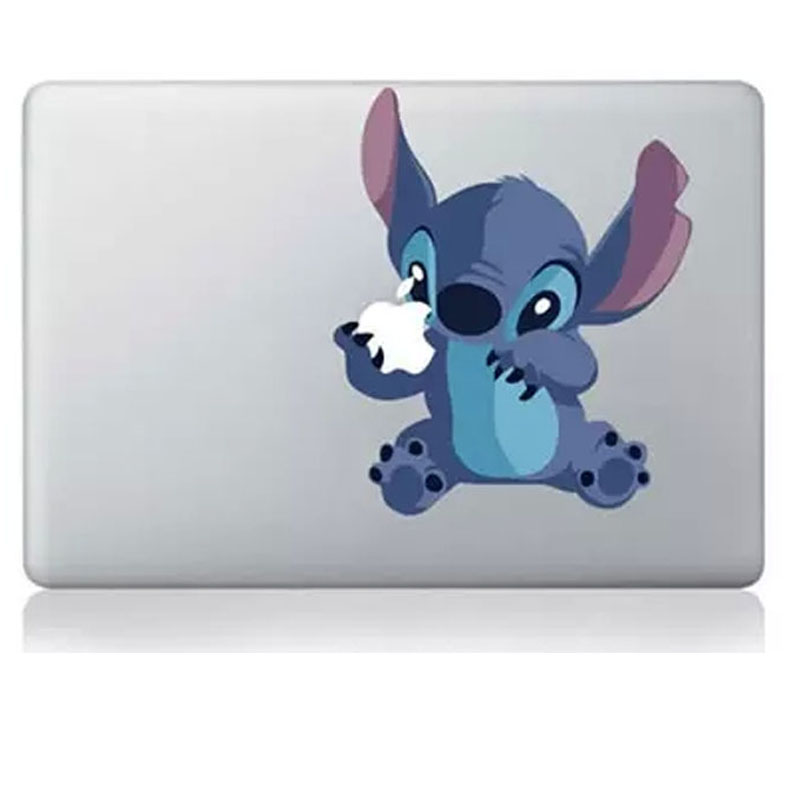 Hot Sell Stitch DIY Personality Vinyl Decal Laptop Sticker for macbook Pro Air 13 inch Cartoon laptop Skin shell for mac book(China (Mainland))